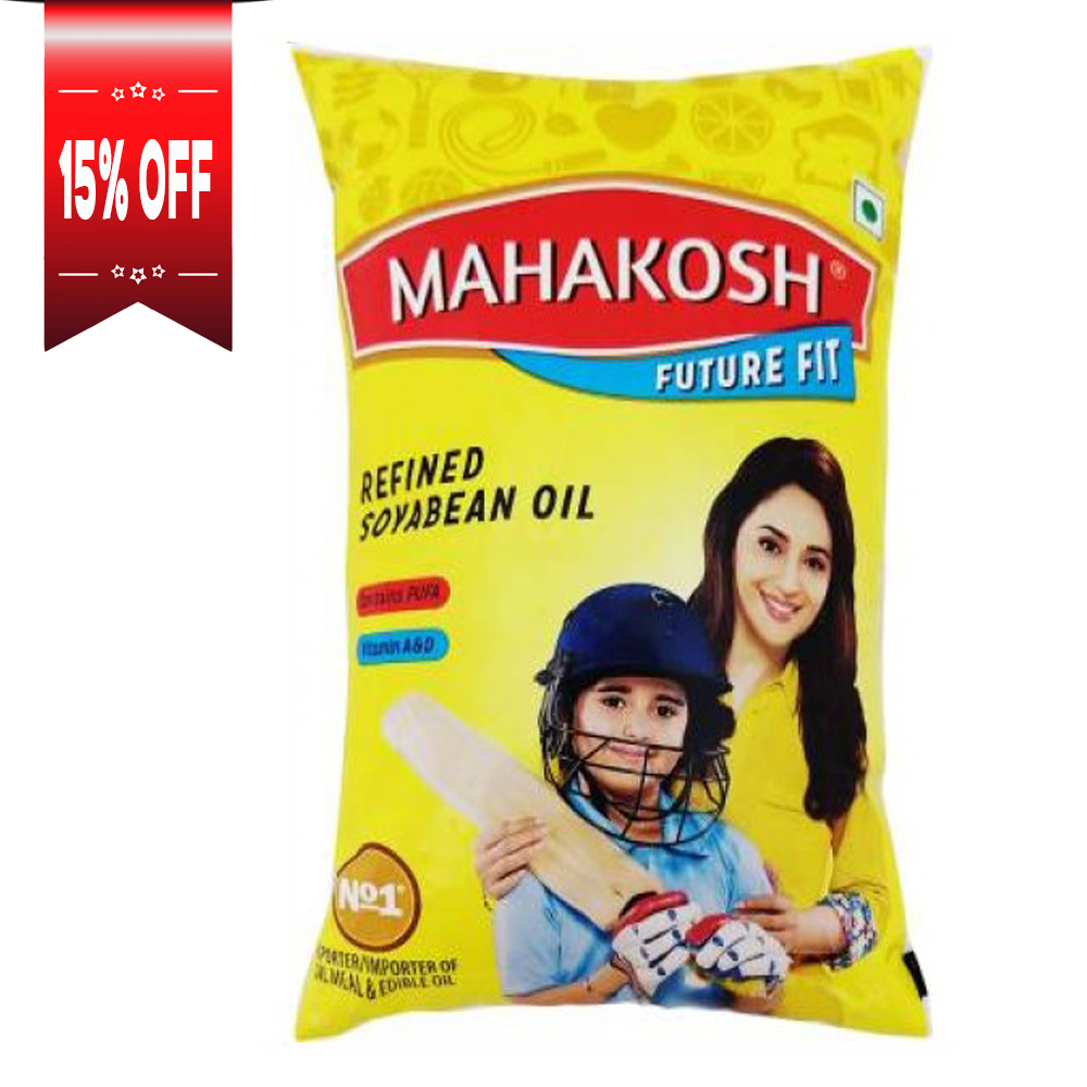 Mahakosh Future Fit Refined Soyabean Oil Pouch