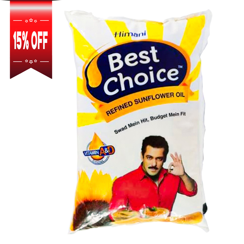 Himani Best Choice - Refined Sunflower Oil Pouch