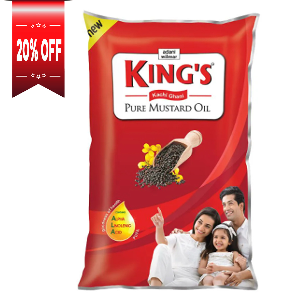 Kings Kachi Ghani Pure Mustard Oil