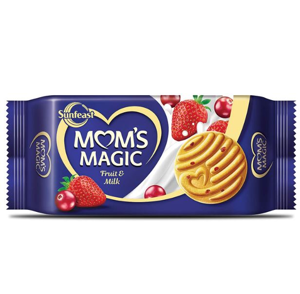 Sunfeast Mom's Magic Fruit & Milk Cookies 6 Pack