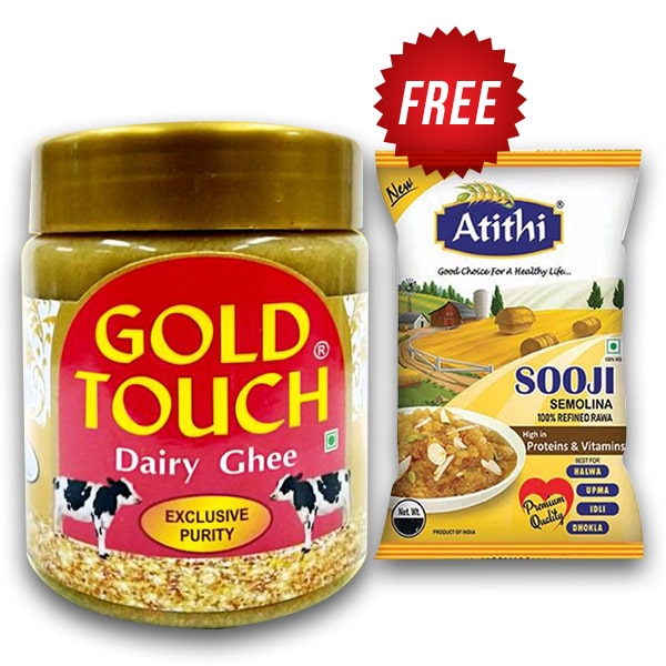 Gold Touch Ghee 500ml + 200Gm Sooji Free