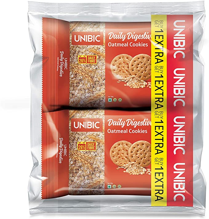Unibic Oatmeal Digestive Biscuits (Buy 1 Get 1 Free)
