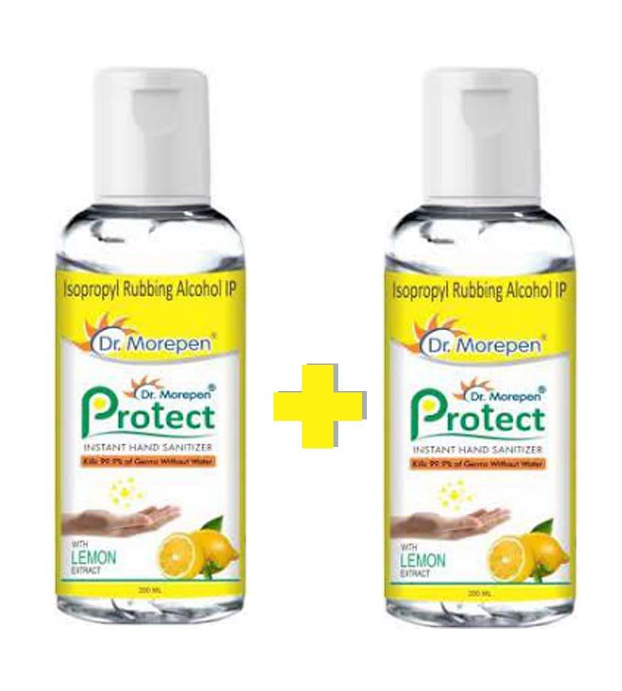 Dr. Morepen Protect Instant Hand Sanitizer (Buy 1 Get 1 Free)