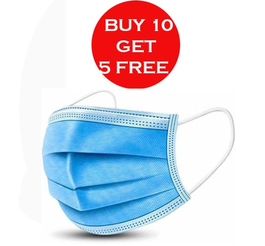 3ply Mask  (Buy 10 Get 5 Free)