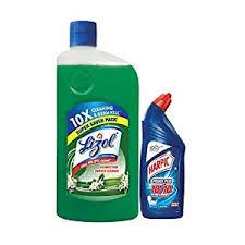 Lizol Disinfectant Surface & Floor Cleaner Liquid, Jasmine.975ml + Harpic Toilet Cleaner 200ml Free