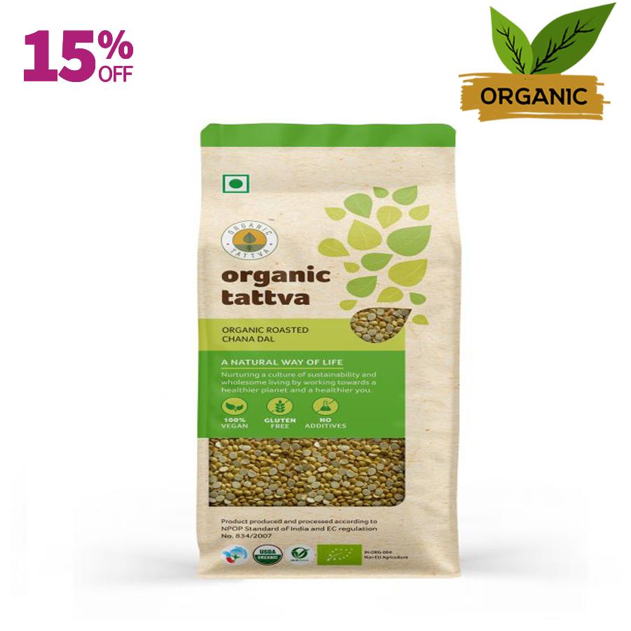 Organic tattva roasted chana dal
