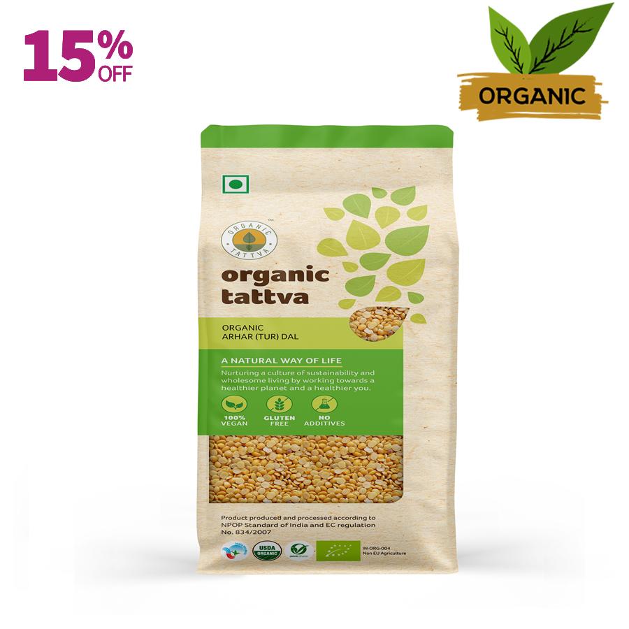 Organic Tattva Arhar (Tur) Dal