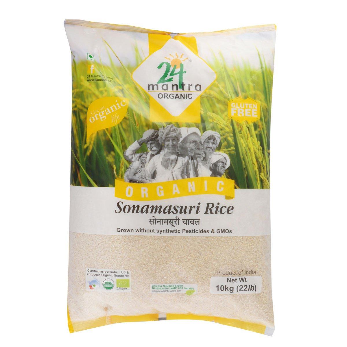 24 Mantra organic sonamasuri white rice