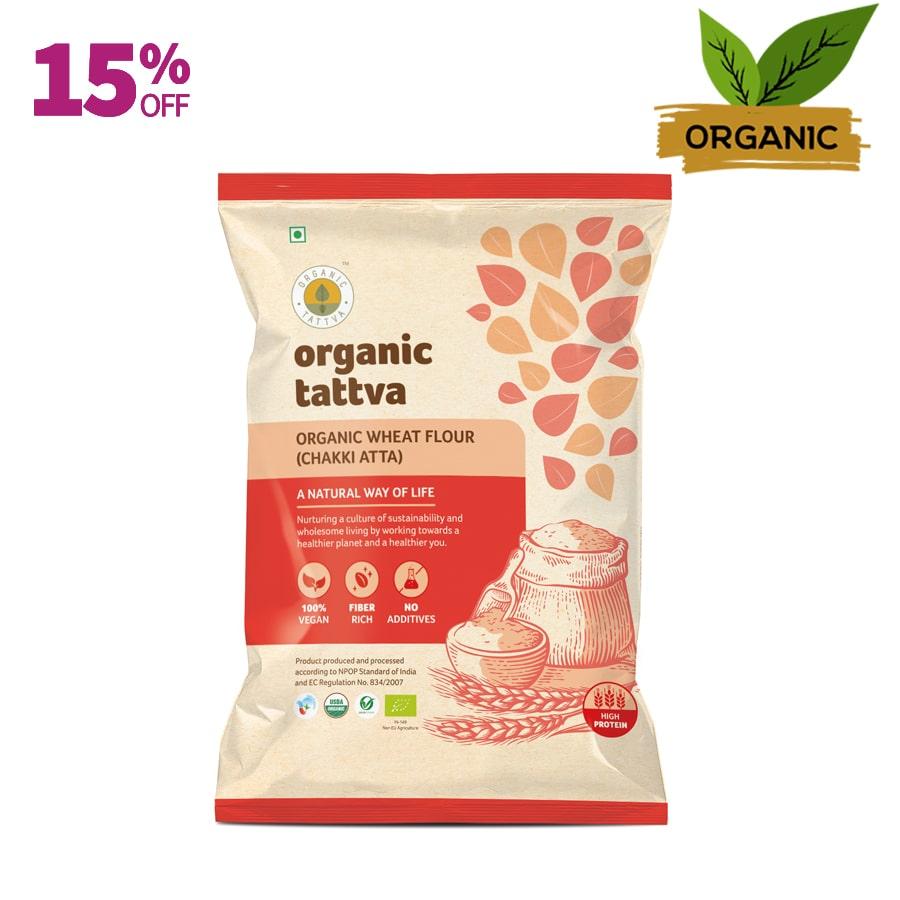 Organic Tattva Whole Wheat Flour (Chakki Atta)
