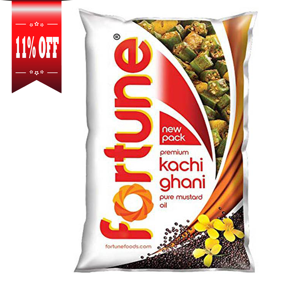Fortune Kachi Ghani Pure Mustard Oil Pouch