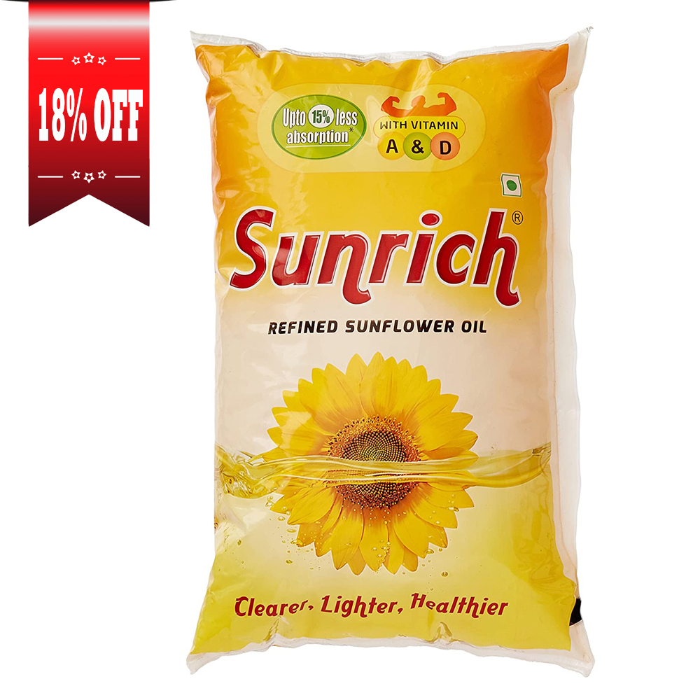 Sunrich Refined Sunflower Oil Pouch.