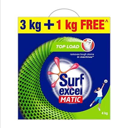 Surfexcel Matic Top Load 3Kg+1Kg Free