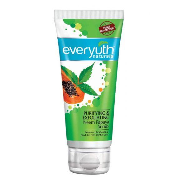 Everyuth Naturals Purifying and Exfoliating Neem Papaya Scrub,50G + Red Paste