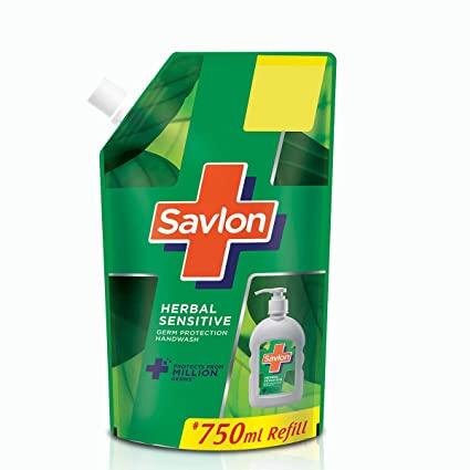 Savlon Herbal Sensitive pH balanced Liquid Handwash Refill Pouch